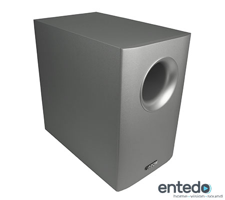 active subwoofer from canton movie 1005 silver speakers bass box home cinema new ebay. Black Bedroom Furniture Sets. Home Design Ideas